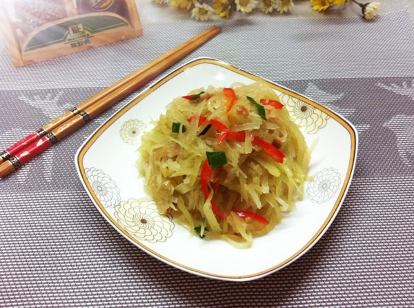 monica食尚煮易的辣炒木瓜丝做法的学习成果照