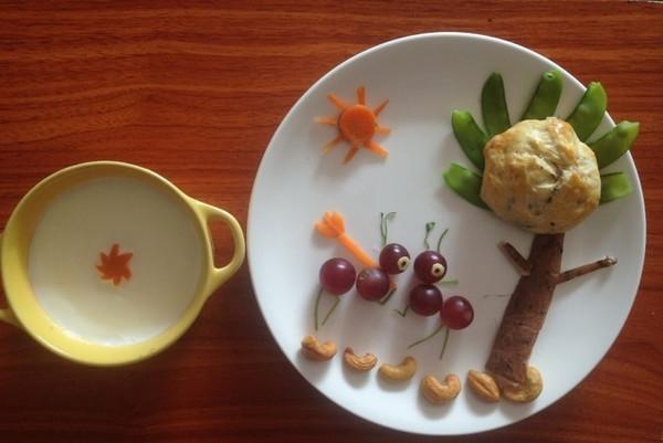 铵哥baby的宝宝创意童趣早餐做法的学习成果照