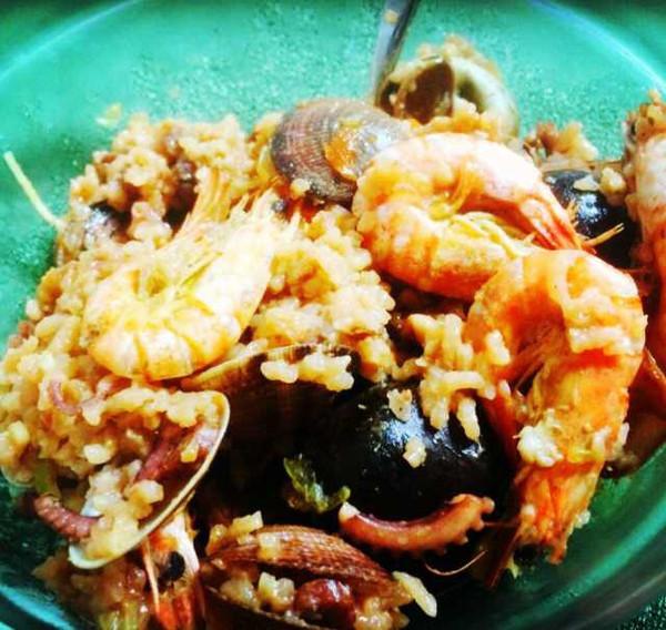 意大利海鲜烩饭(铸铁锅版,也可以用不粘锅)