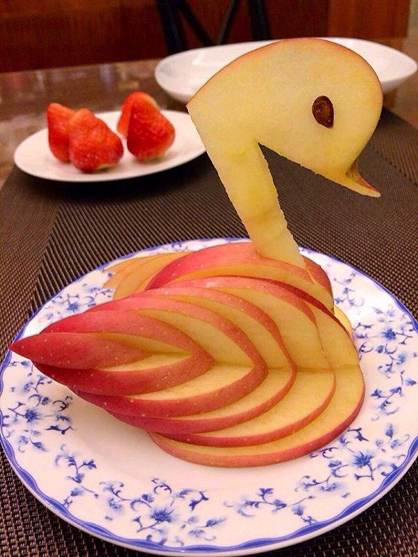 """""""苹果天鹅""""手把手教你拼盘装饰!"""