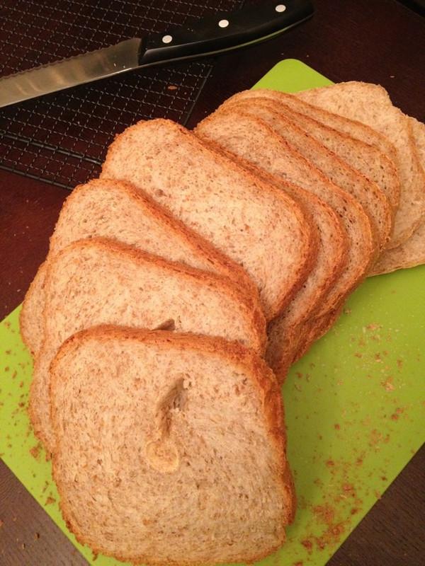 面包机版快速制作全麦面包的做法