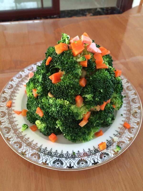 如何做好看的圣诞树沙拉(西兰花土豆泥圣诞花环)