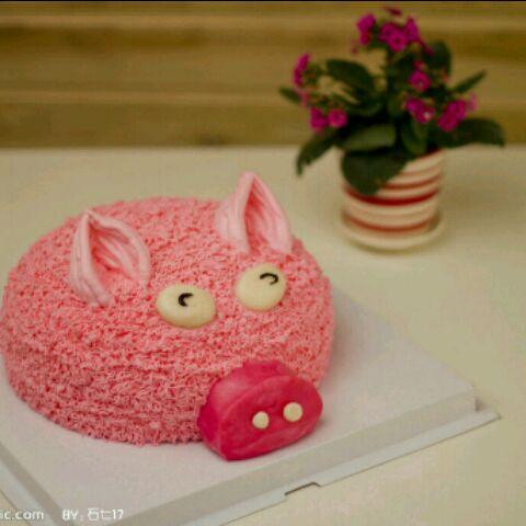 的小猪蛋糕的做法