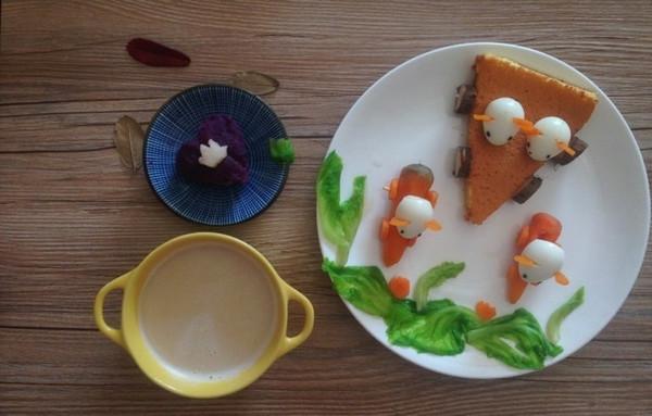 铵哥baby的宝宝创意童趣早餐做法的学习成果照图片