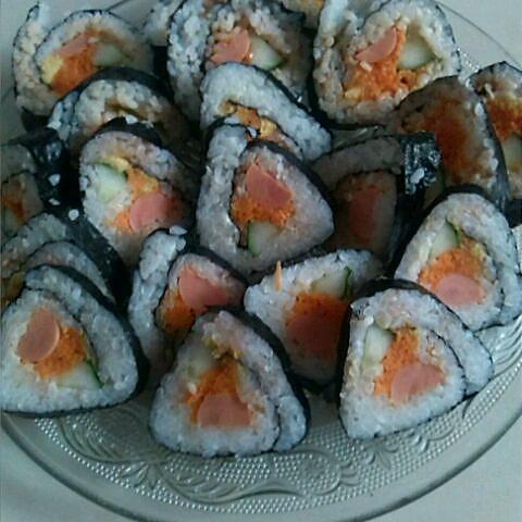 吃霸谁敢娶的寿司卷做法的学习成果照