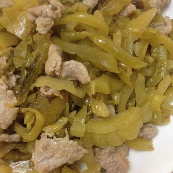 潮汕咸菜炒肉