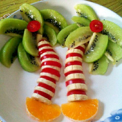 陈陈做的水果拼盘的做法