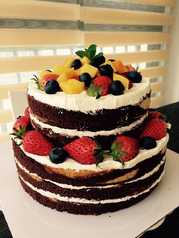 dq如茶丁丁的经典巧克力裸蛋糕做法的学习成果照