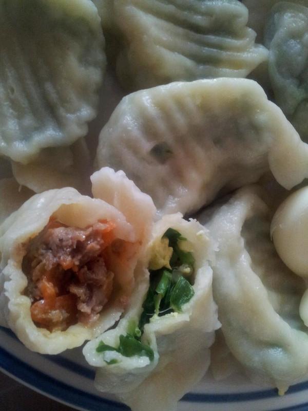 包韭菜饺子捏的步骤图片