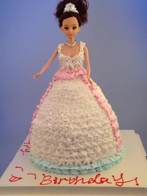 布丁萌cherry的芭比娃娃蛋糕做法的学习成果照