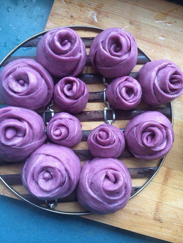 遇见你美好做的紫薯玫瑰花馒头的做法