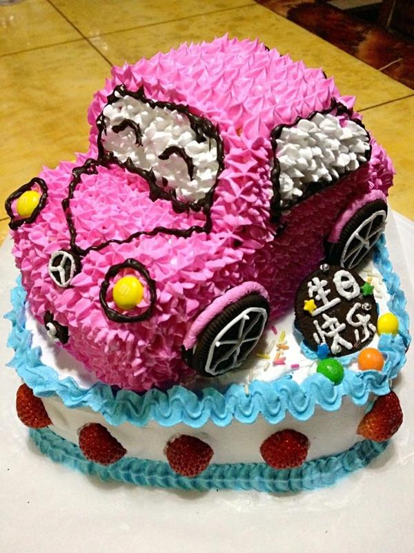 靖靖小吃货做的可爱的小汽车生日蛋糕儿的做法