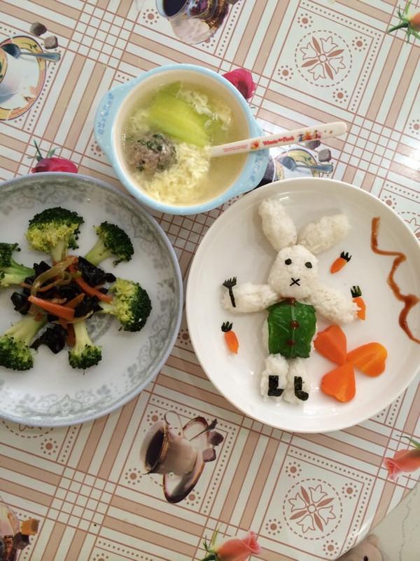 欣妈mi的儿童餐做法的学习成果照