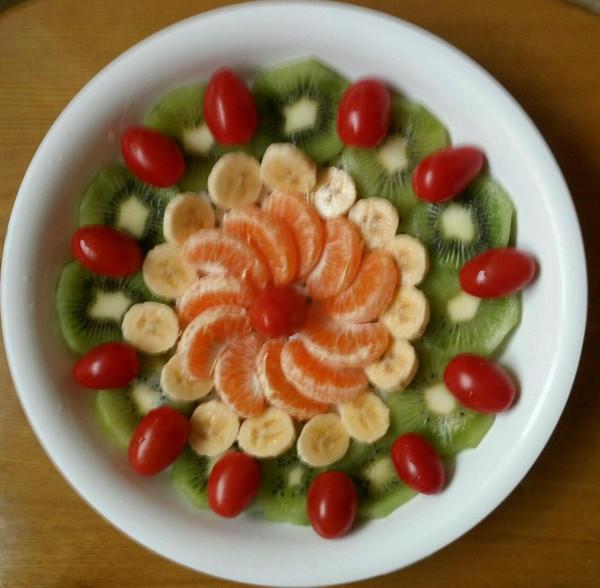吃开心1做的水果拼盘的做法 豆果美食