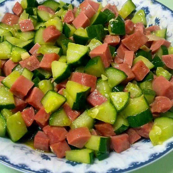 家有小兜的黄瓜炒火腿做法的学习成果照