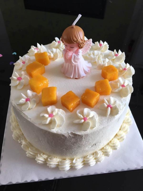 俏瑞儿的女宝宝生日蛋糕做法的学习成果照