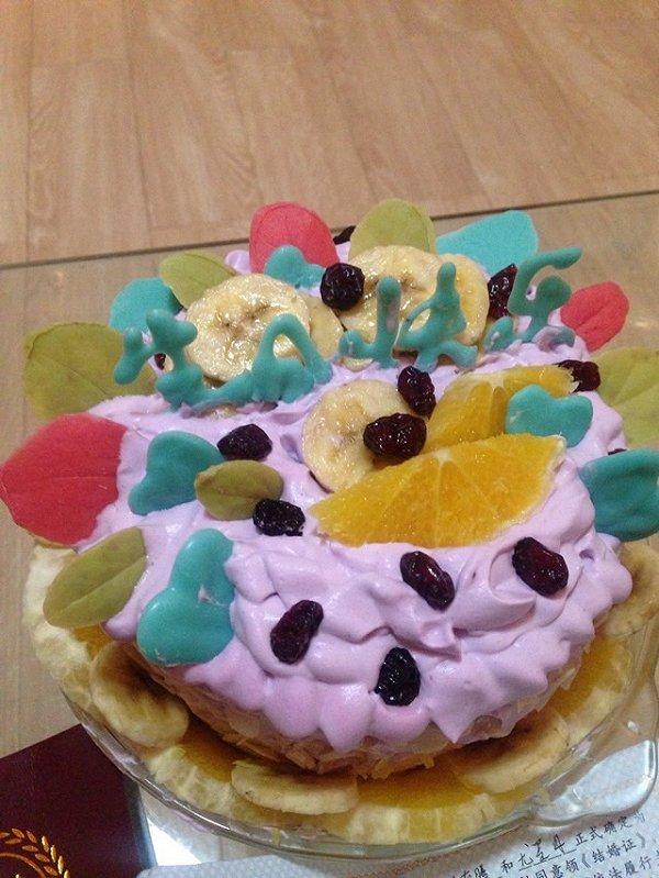 蛋糕盘豆子手工制作图片
