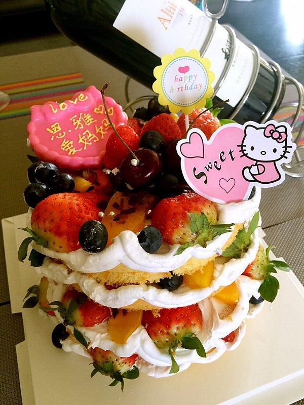 臭宝贝妈妈做的生日蛋糕的做法
