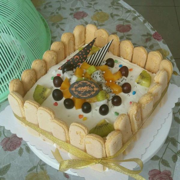 水果彩虹生日蛋糕