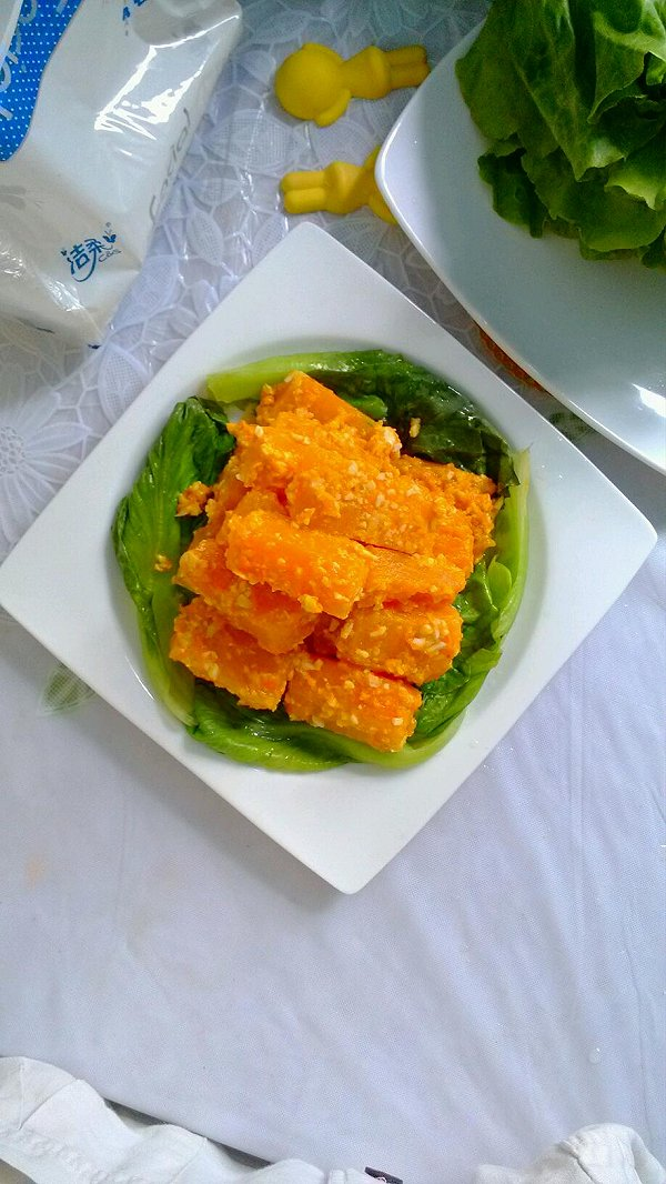 咸鸭蛋焗南瓜的做法
