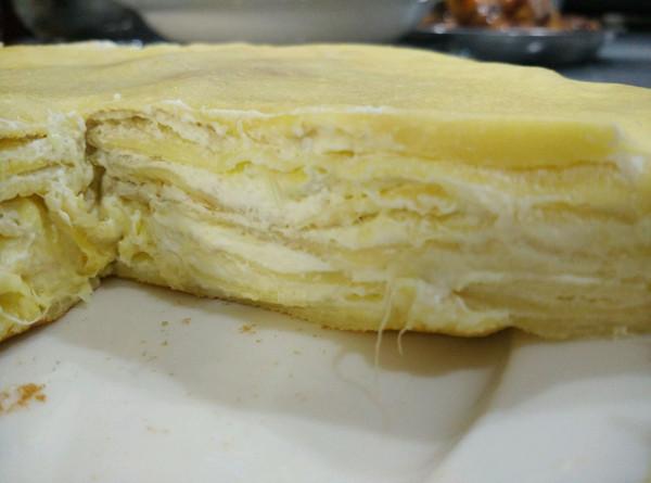 彩虹191的法式千层榴莲蛋糕做法的学习成果照_豆果美食