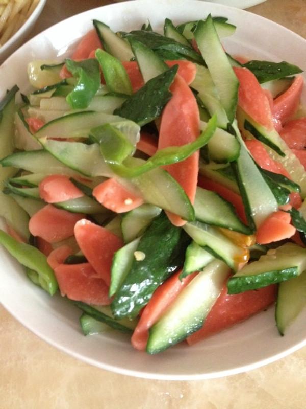 素食客的火腿肠炒黄瓜做法的学习成果照