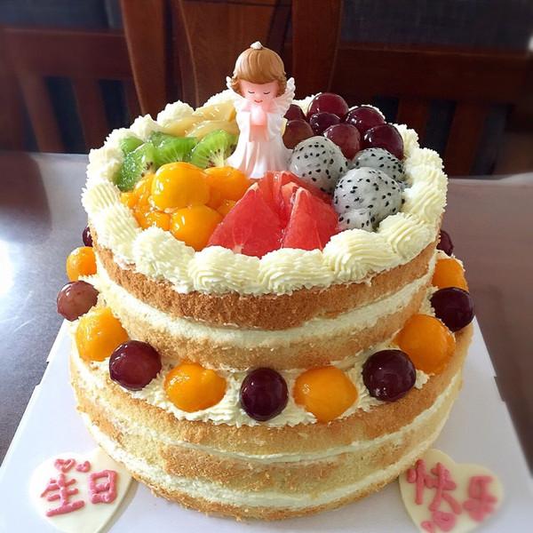 悟57的水果双层蛋糕做法的学习成果照