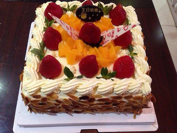 方形戚风生日蛋糕做法