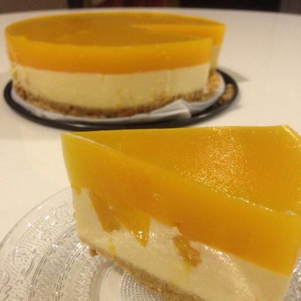 水蜜桃乳酪蛋糕