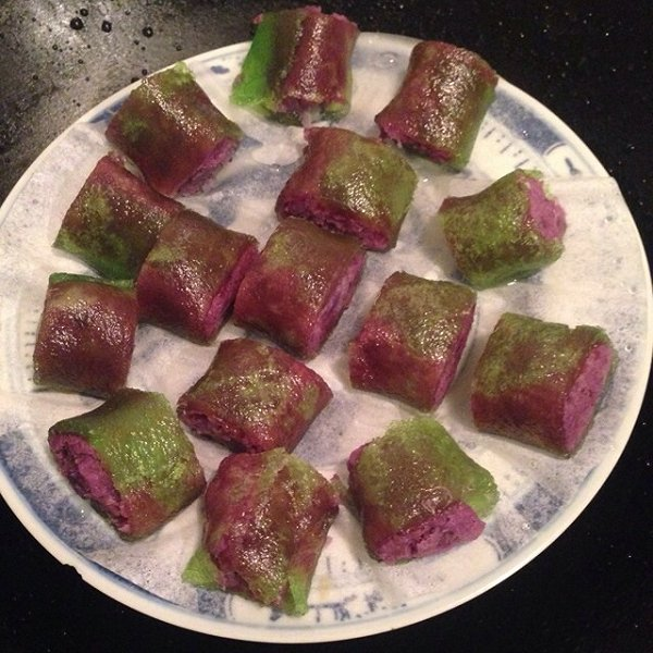 蝴蝶姑娘做的西米紫薯qq卷的做法