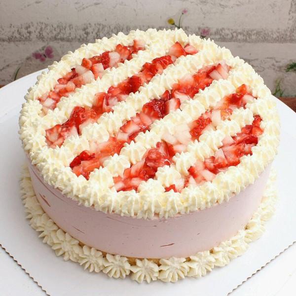 莲的草莓慕斯蛋糕(六寸)做法的学习成果照