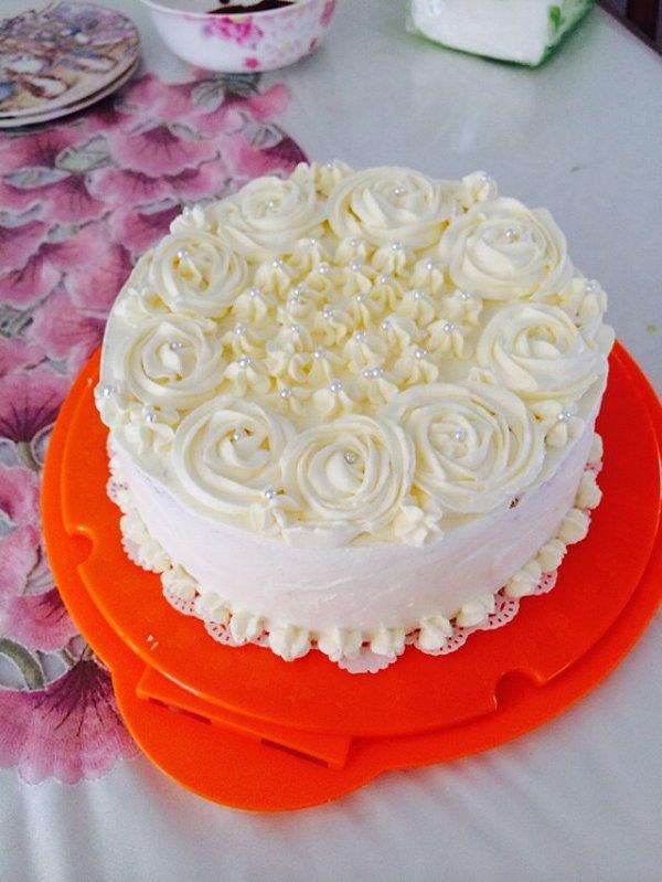 就是me的小清新奶油蛋糕做法的学习成果照