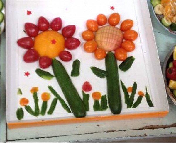 儿童水果蔬菜拼盘图片-水果拼盘图片儿童 幼儿园水果拼盘图片 制作水