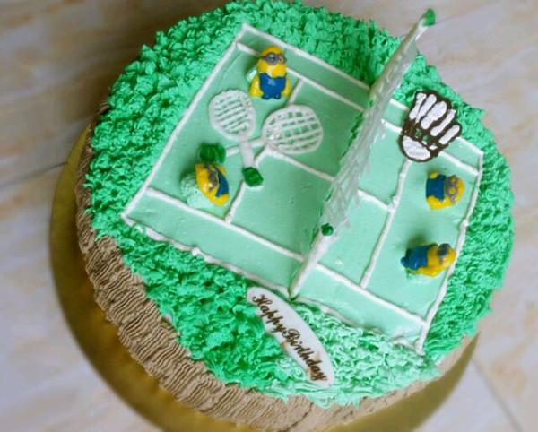 vivian邹的十寸场景蛋糕做法的学习成果照