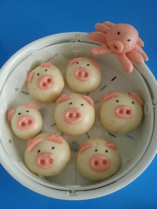 兴妈厨房的小白猪包子做法的学习成果照