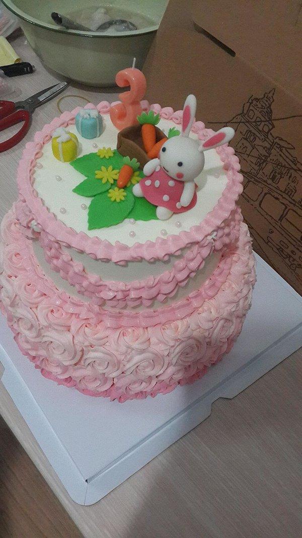 幼儿园蛋糕盘手工制作图片动物小兔
