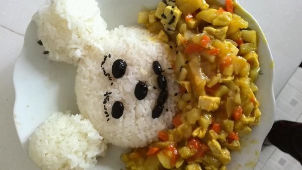 好好学习笨笨的小熊洗澡咖喱饭(素版)做法的学习成果