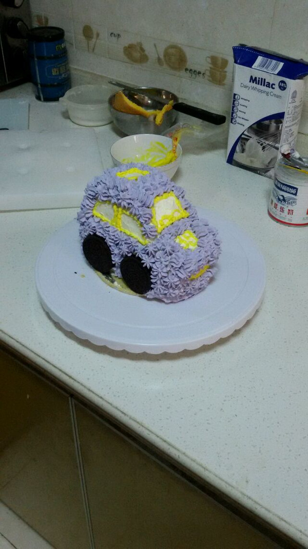 杨莉1的小汽车蛋糕做法的学习成果照