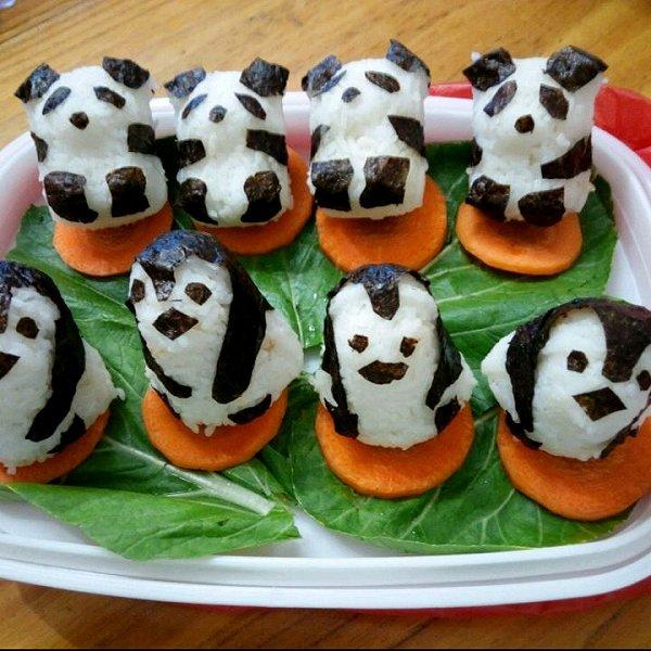 猪猪妹8做的小孩喜欢的动物饭团的做法