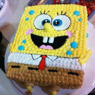 海绵宝宝-调色奶油蛋糕