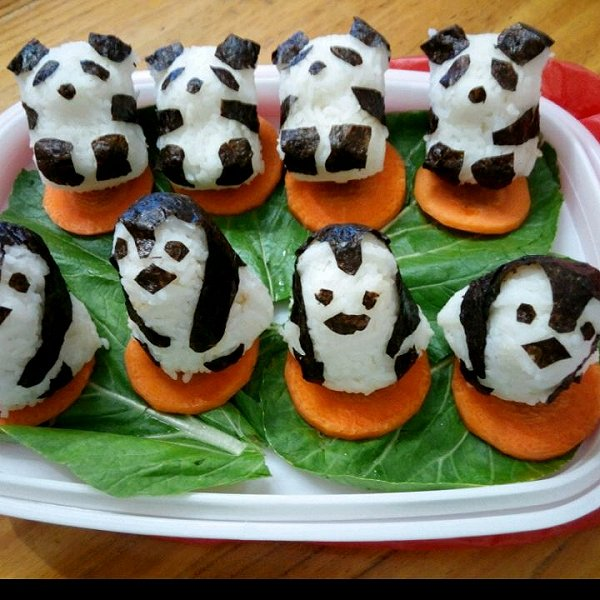小孩喜欢的动物饭团