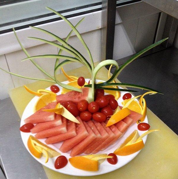 花式水果拼盘西瓜雕刻-果盘制作视频 ktv果盘制作 ktv果盘制作教程