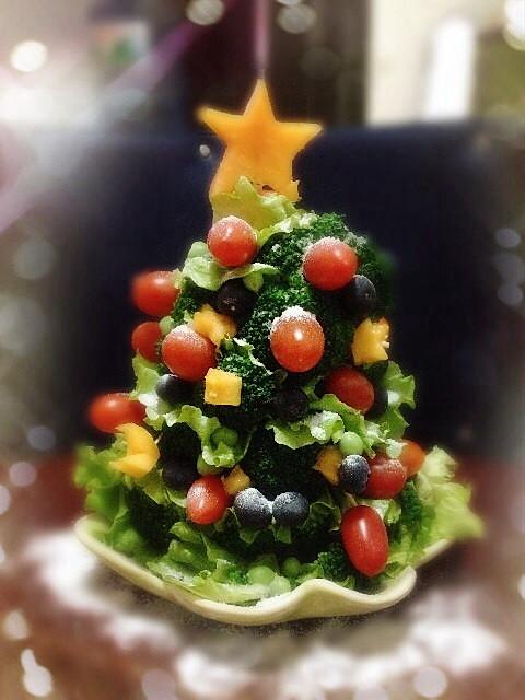 cc1202做的水果圣诞树的做法
