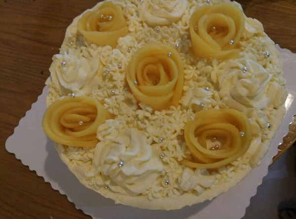 为朋友妈妈做的生日蛋糕.