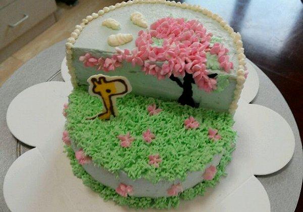 卡通立体场景蛋糕