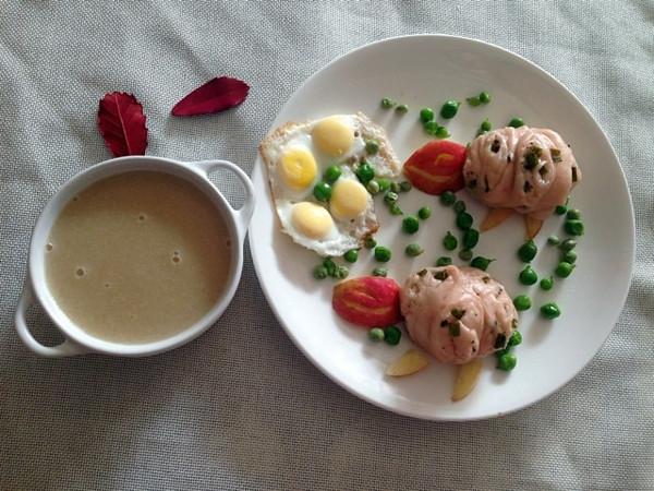 铵哥baby的宝宝营养创意早餐做法的学习成果照图片