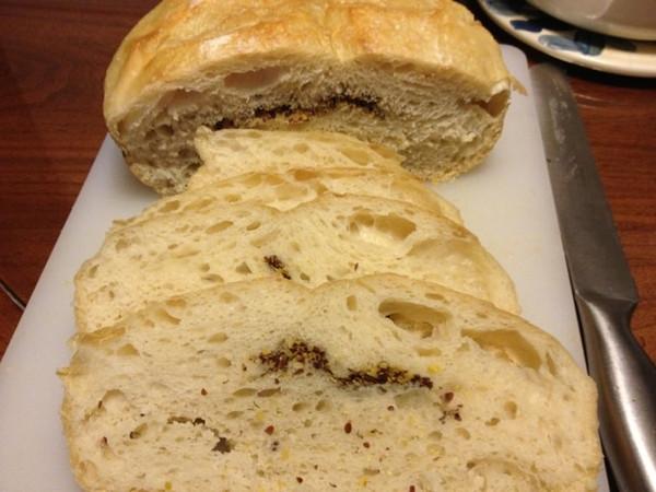 yi做的5分钟免揉欧式面包的做法