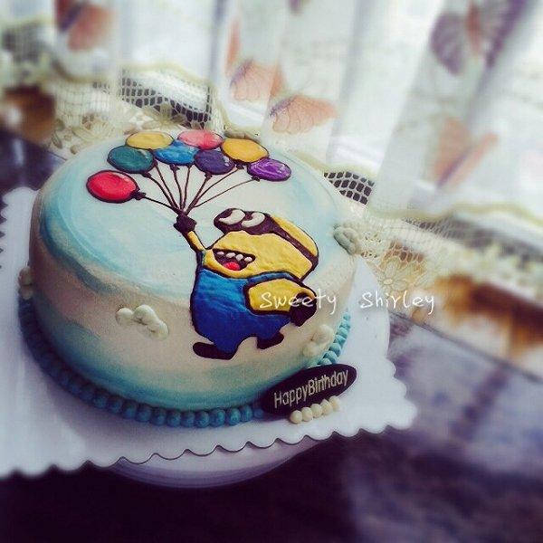 chengli-yao的小黄人3d手绘蛋糕做法的学习成果照