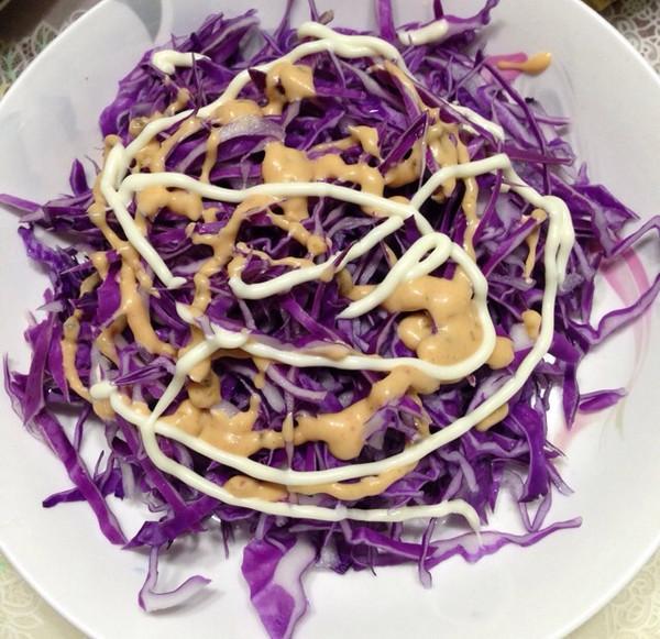 莫紫心的千岛酱,沙拉酱拌紫甘蓝做法的学习成果照