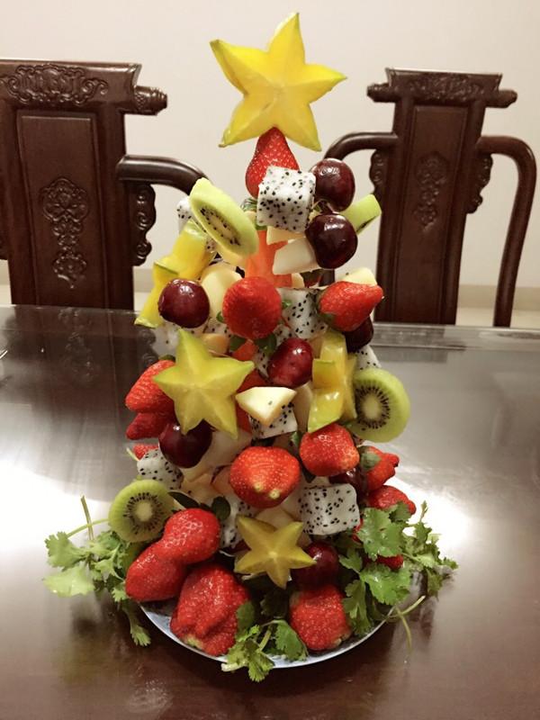 xuan4的水果圣诞树做法的学习成果照